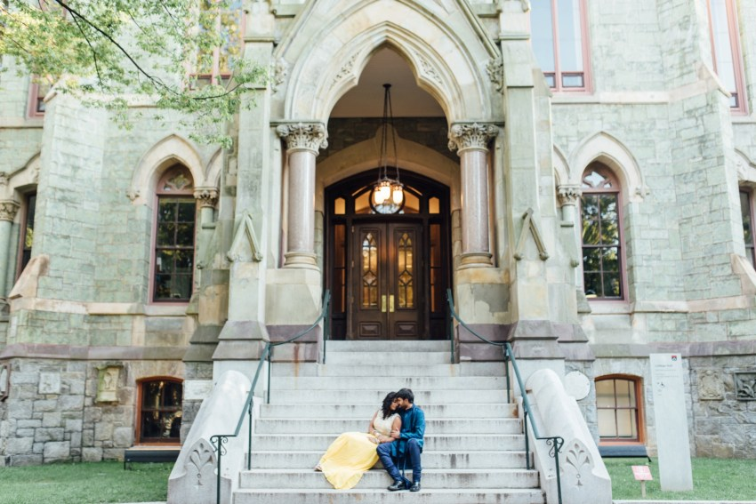 Sheetal + Sushanth - University of Pennsylvania Engagement Session - Alison Dunn Photography photo-8