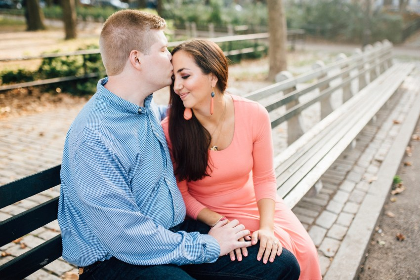 Colleen + Matt - Msgr McGolrick Park - Greenpoint Brooklyn New York Engagement Session - Alison Dunn Photography photo