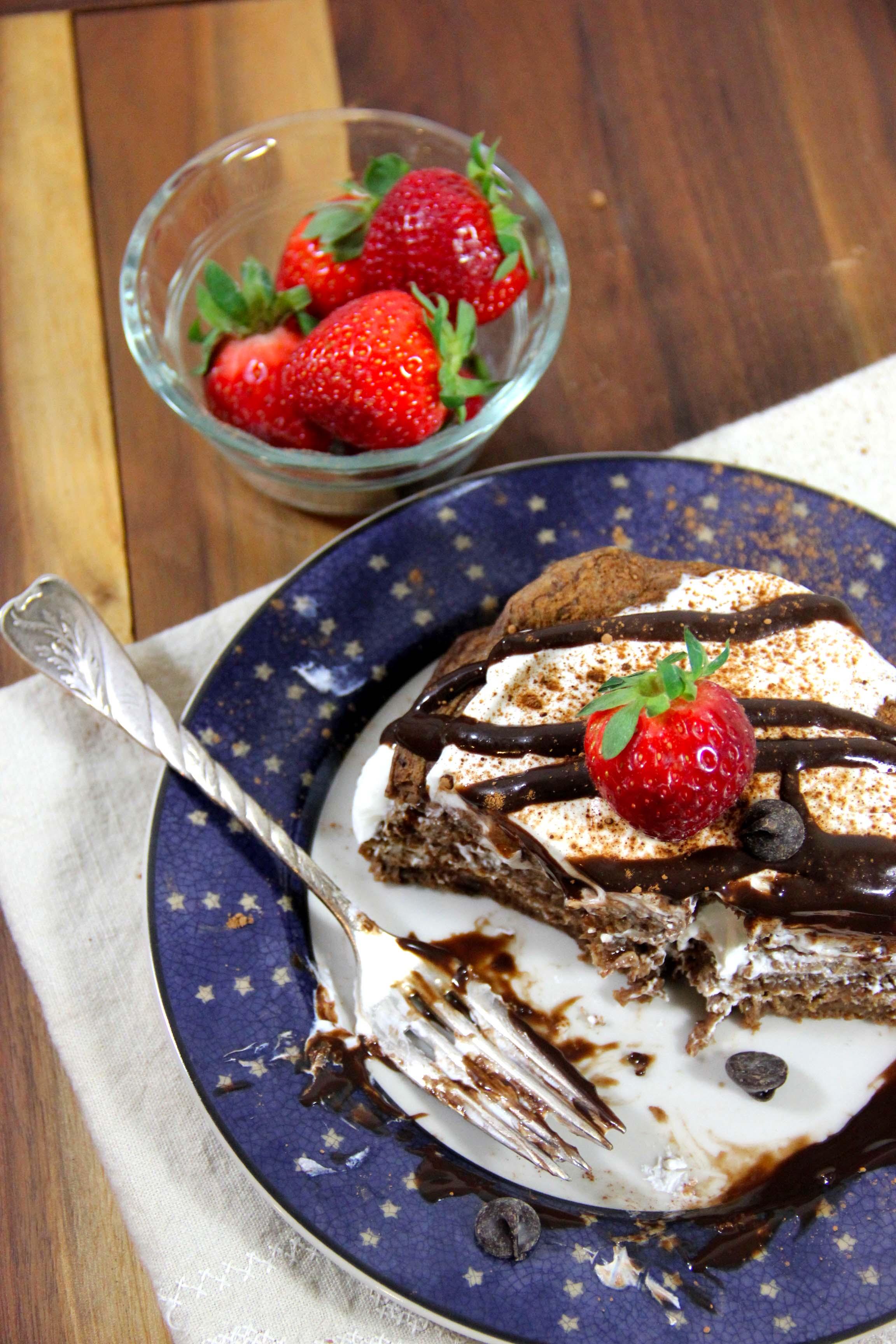 Healthy Vegan Tiramisu Protein Pancakes