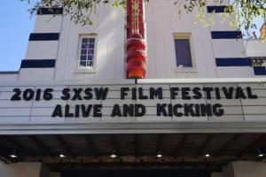 SXSW Premiere marquee
