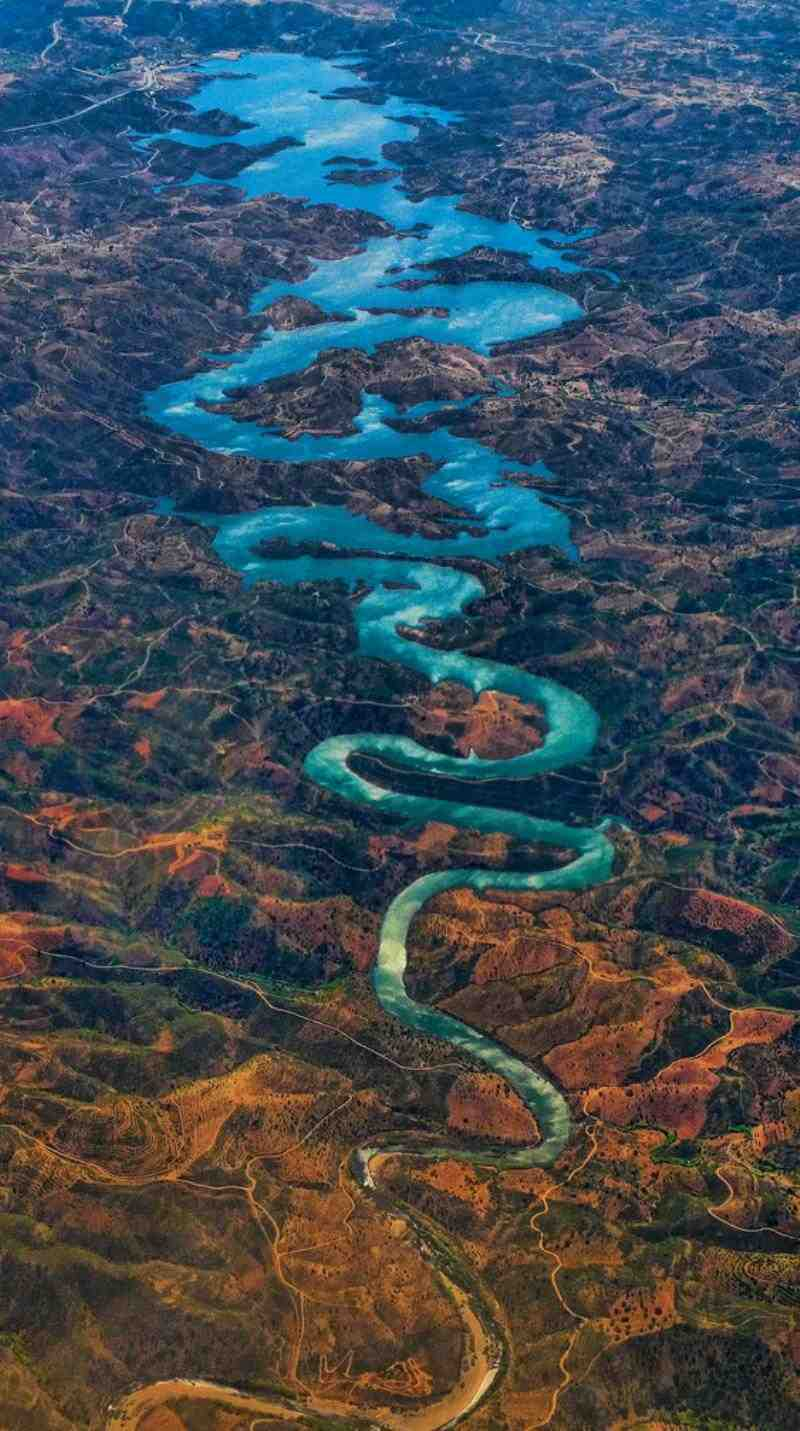 Blue Dragon River Aerial Photography