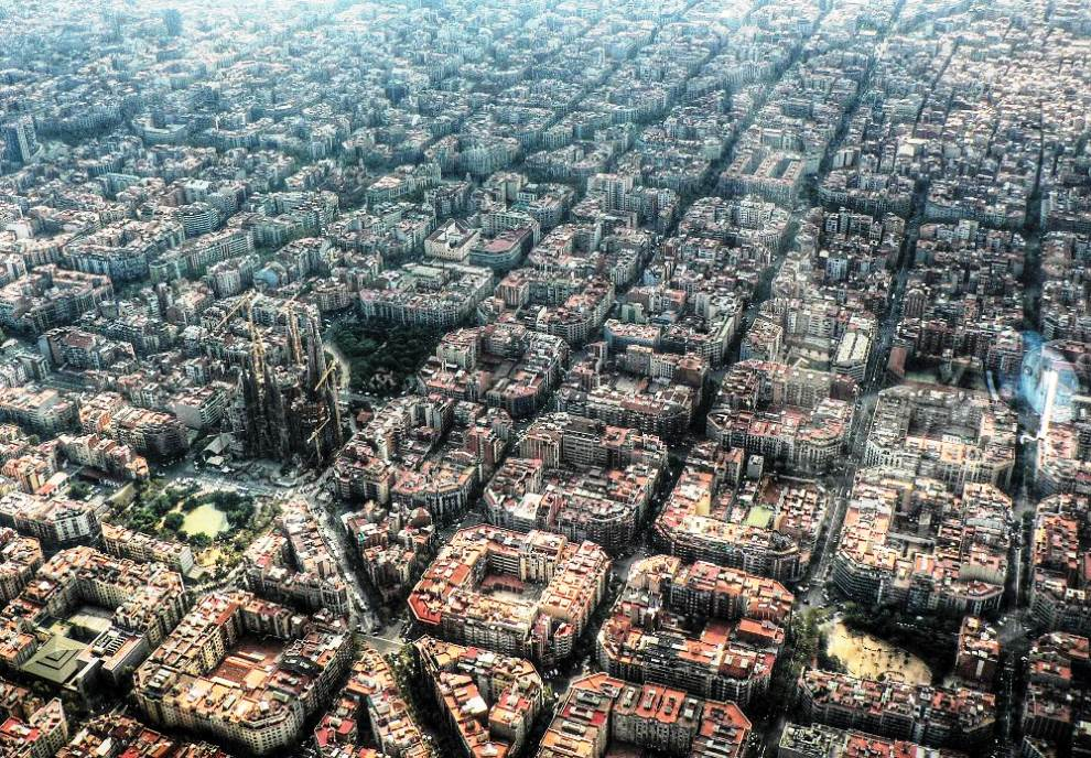 Aerial Photography Of Eixample Barcelona
