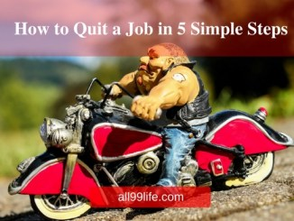 How To Quit a job in 5 simple steps biker guy