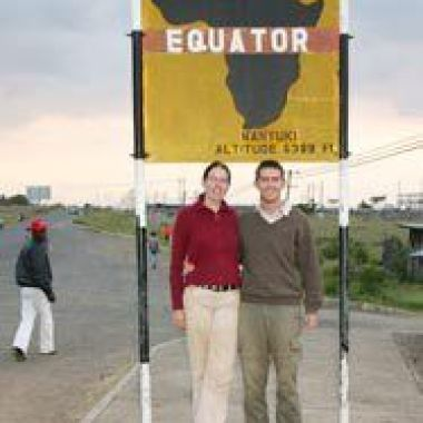 Niamh O Riordan at the Equator