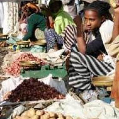 An Ethiopian food market