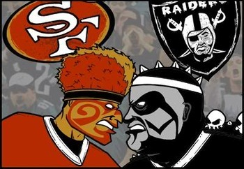 San Francisco Wins Battle Of The Bay. Raiders, And Niner Fans Finish Without Class In Brawl Melee, That Ended With Gun Shots. (1/3)
