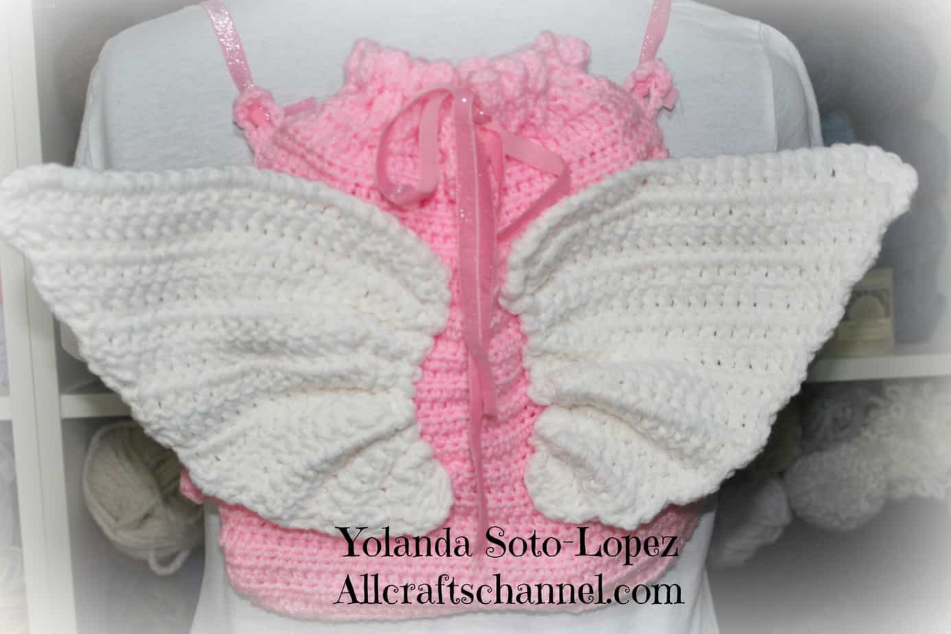 Crochet Pattern Angel Wings : #Crochet Angel Wings Backpack - All Crafts Channel