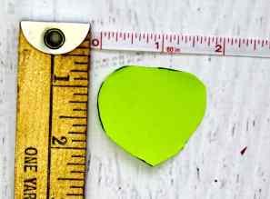 measurement of rose petal