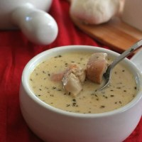Roasted Garlic Chicken Soup - Low Carb and Gluten-Free