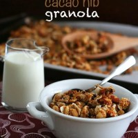 Paleo Coconut Cacao Nib Granola - Low Carb and Gluten-Free