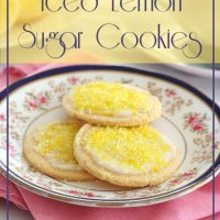 Iced Lemon Sugar Cookies - Low Carb and Gluten-Free