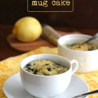 Lemon Blueberry Mug Cake