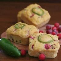 "Cranberry Jalapeño ""Cornbread"" Muffins"