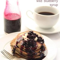 Chia Seed Blender Pancakes with Wild Blueberry Syrup