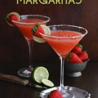 Low Carb Strawberry Margaritas