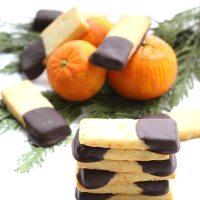Chocolate Orange Shortbread Sticks