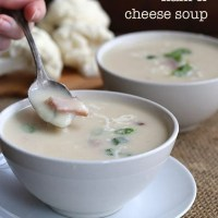 Slow Cooker Cauliflower Ham & Cheese Soup
