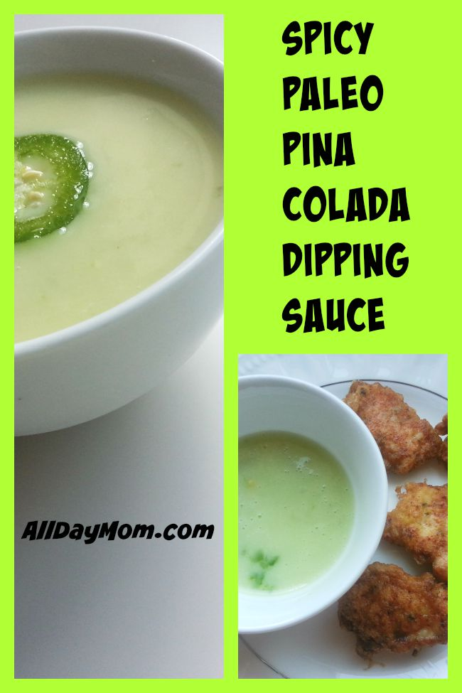 Get this Paleo recipe! Spicy Pina Colada Sauce is dairy free, sugar free, and Paleo and Whole30 approved! Easy recipe with just 4 ingredients!