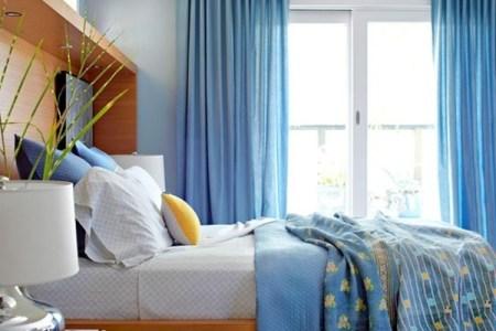 blaues inetieur schlafzimmer ideen