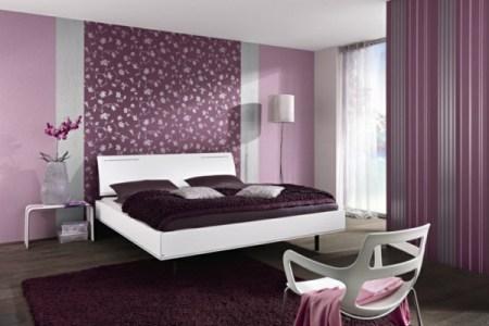 farbideen schlafzimmer rosa lila farbton