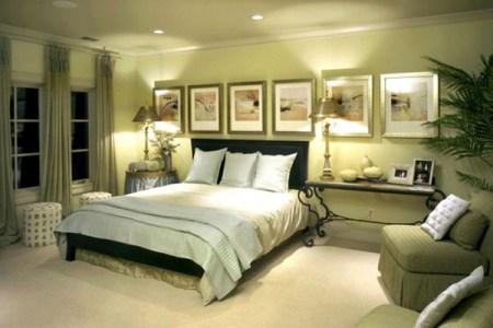 schlafzimmer farbideen gr%c3%bcne einrichtung