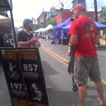 Talking about the evil of abortion at Boyertown Sidewalk Expo