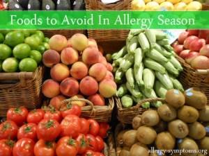 foods to avoid during seasonal allergy