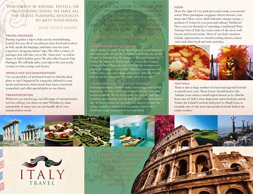 travel brochures examples project   Juve cenitdelacabrera co travel brochures examples project