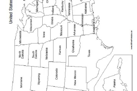 gallery for > printable us map with state names
