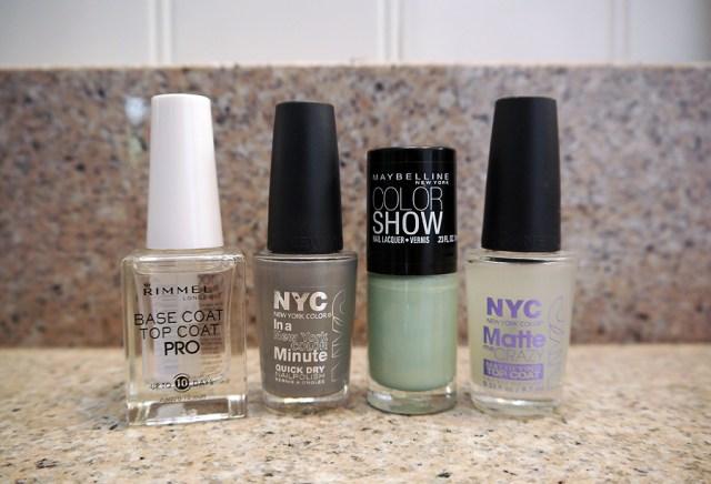 mint-gray-base-top-coat-nail-polish