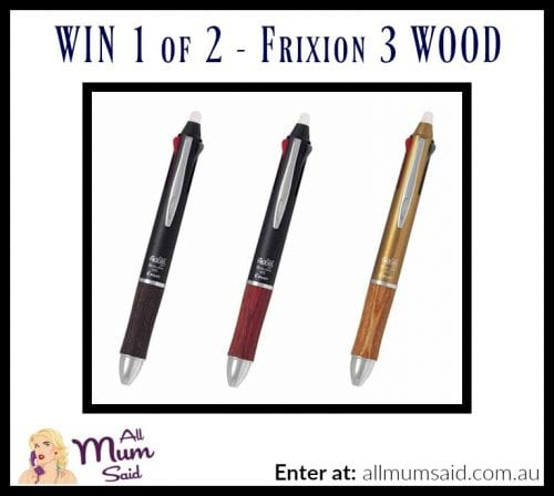Stationary Lovers! WIN the New Frixion 3 Wood Pen