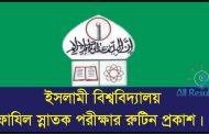 Islamic University Fazil Exam Routine 2016 www.iu.ac.bd