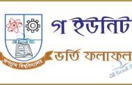 Jagannath University C Unit Admission Result & Seat Plan 2016