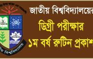 National University Degree 1st Year Exam Routine 2015