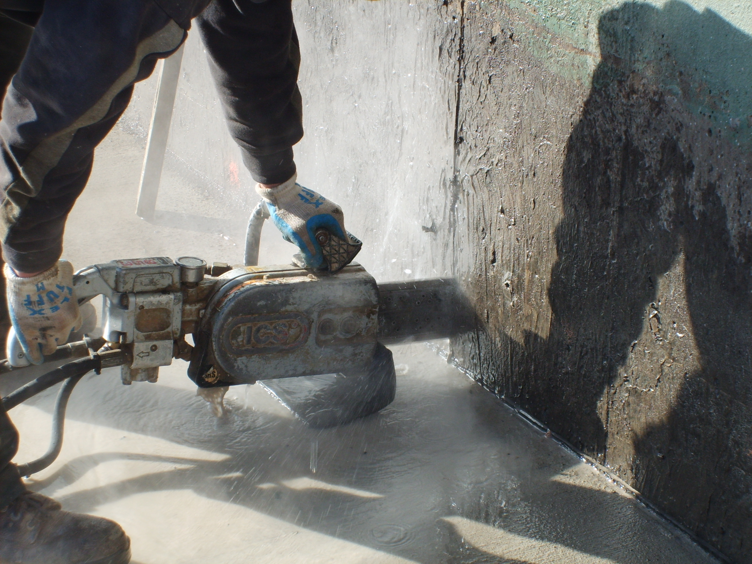Chainsaw Cut In A Wall : Wall sawing all saw concrete cutting