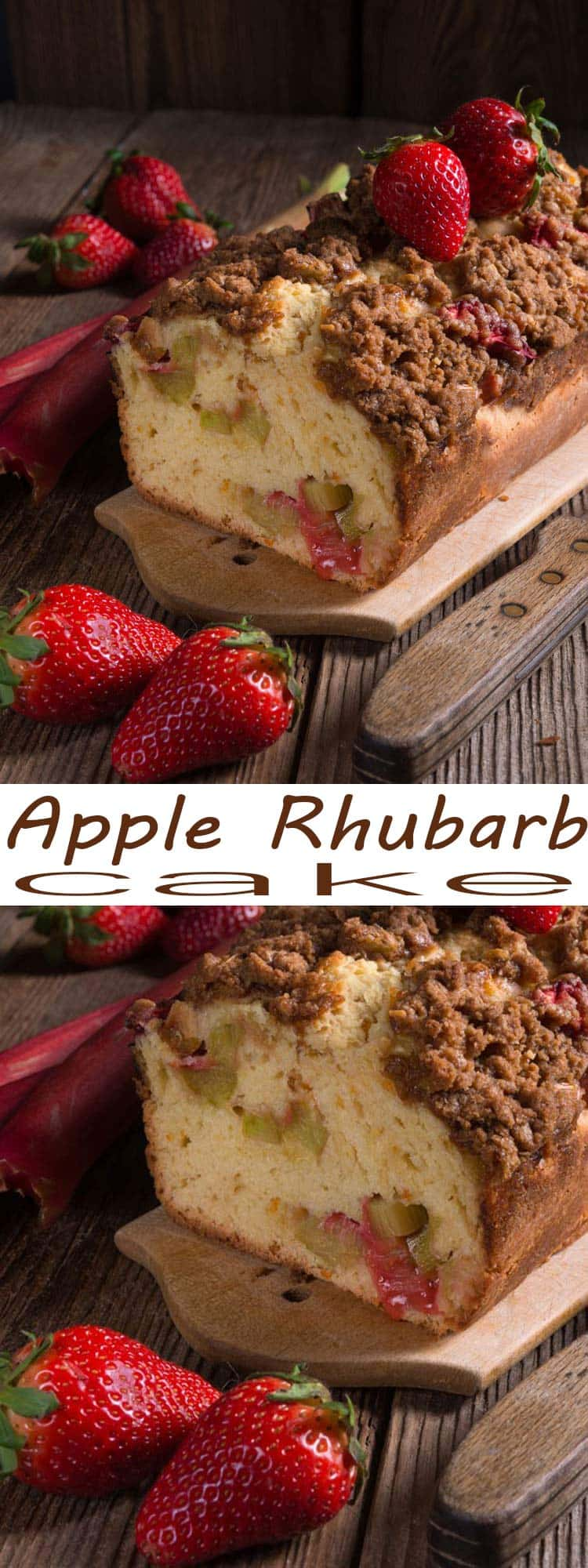 rhubarb cake. This Apple Rhubarb Cake is so easy to make and absolutely delicious. You'll be really happy with the end result! This is a great way to use up rhubarb.