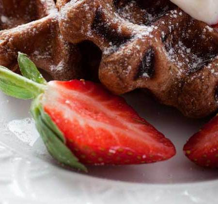 best waffle recipes. Try the BEST Chocolate Waffles recipe for an easy breakfast your family will love. Chocolate lovers will adore this breakfast idea. Homemade waffle recipes don't have to be hard to make. You can do whip up a fast breakfast of Chocolate Waffles in no time.