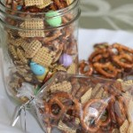 Chocolate Drizzled Chex Mix