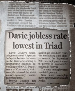 Davie High Jobless Rates