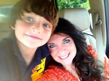 Abbie Gale and son Peter