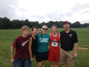 My family with me at my first collegiate XC race. Can we just look at how young my brother looks?