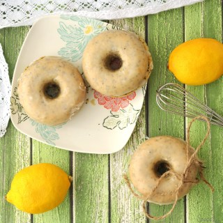 Healthy Lemon Poppy Seed Doughnuts
