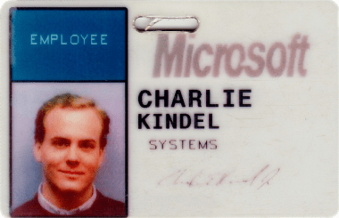 Charlie Kindel - Microsoft badge