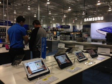 Samsung shop inside Best Buy