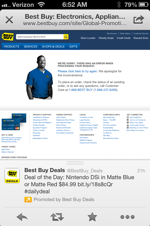 If You Can't Sell to Me on My iPhone, Best Buy, You Can't Sell to Me at All