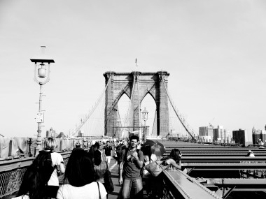 "The ""creative shot"" mode on the Canon PS N creates a handful of filtered photos in one shot, like this image of the Brooklyn Bridge."