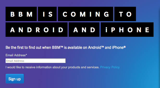 BlackBerry Messenger Hits Android and iOS