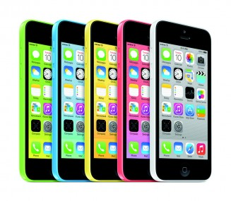 The iPhone 5c comes in green, blue, yellow and pink, as well as white.