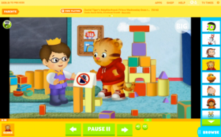 The video player on the redesigned PBS Kids Web site