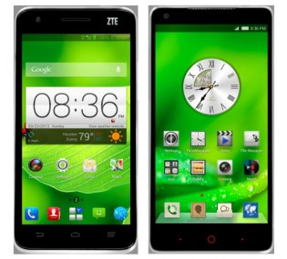 ZTE Grand S (left) and Nubia 5 (right)